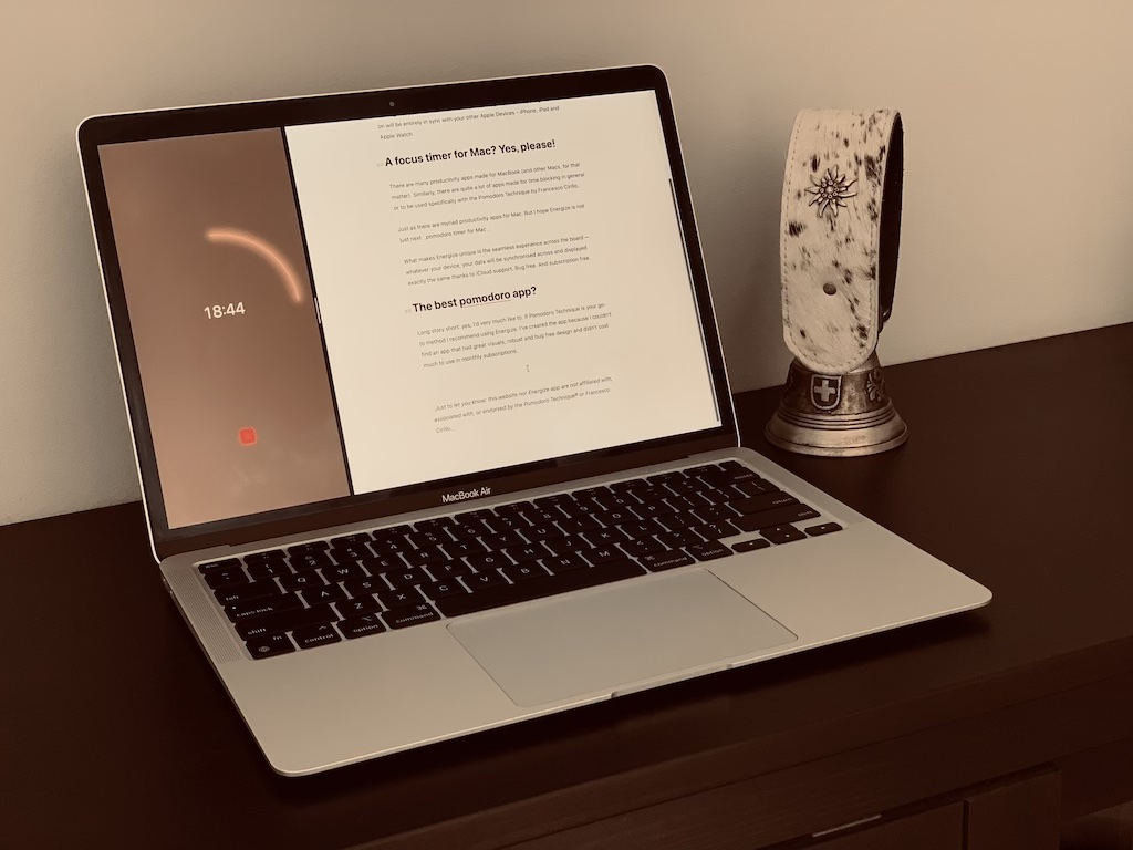 Energize Focus Timer is a pomodoro app for Mac