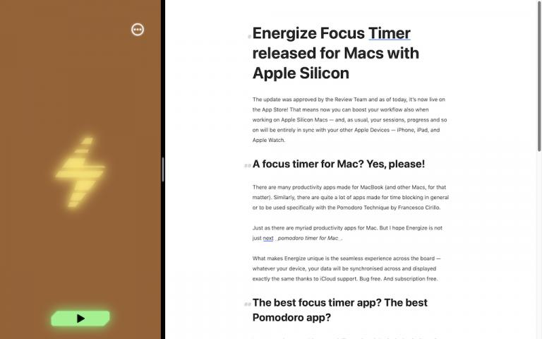 Energize Focus Timer for Mac